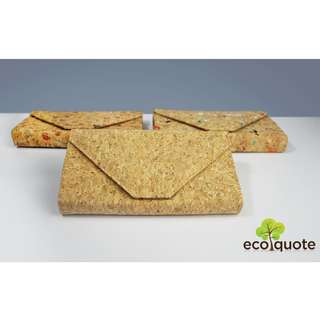 EcoQuote Envelope Sling Bag Handmade Cork Material