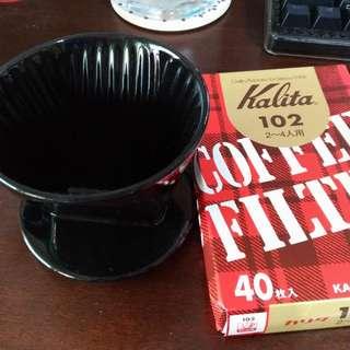 【手沖咖啡】Kalita 102 三孔濾杯