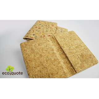 EcoQuote Passport Holder Simple Handmade Cork Material