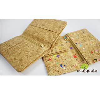 EcoQuote Passport Holder Deluxe Handmade Cork Material