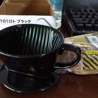 【手沖咖啡】kalita 101三孔濾杯