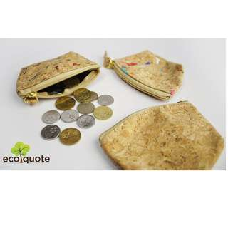 EcoQuote Small Coins Bag Handmade Cork Material