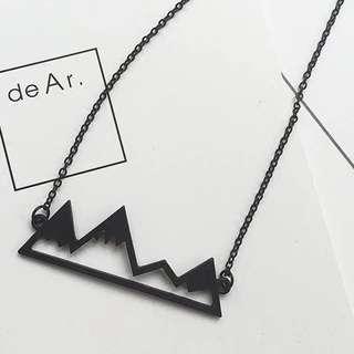 Geometric Mountain Necklace