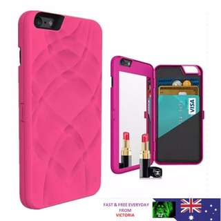 Fashion Luxury Practical Flip Mirror Wallet Case Cover For Apple iPhone 6 6S