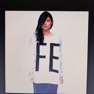 Noisy May FE White Sweater