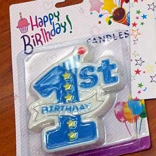 1歲生日快樂蠟燭