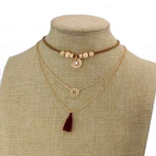 [PreOrder] Triple Layered Sweet Gold Adornments Necklace