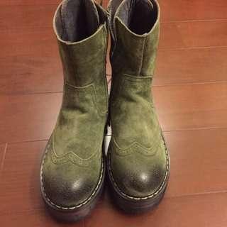 軍綠色短靴 #五百元好女鞋