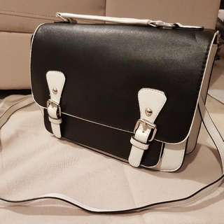 Black And White Side Bag