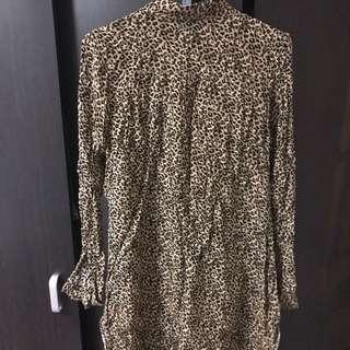 High Low Leopard Print Shirt