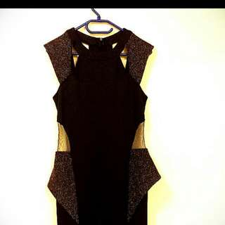 Black and Gold Formal Dress