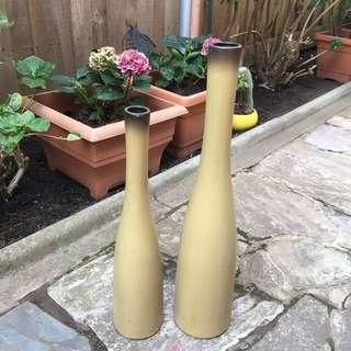 Tall slender vases