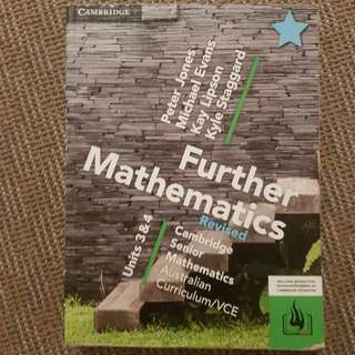 Cambridge Further Mathematics VCE Units 3 And 4 Revised Textbook