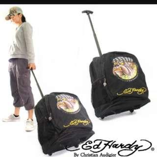 Ed Hardy行李箱背包