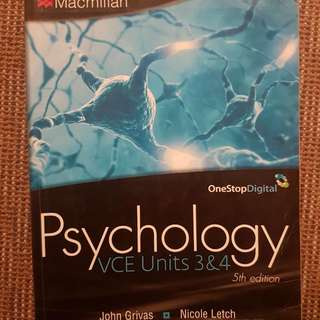 VCE Psychology Units 3 and 4 by Macmillan Education Australia 5th Edition