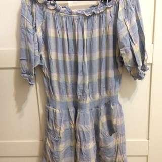 正品 LOWRYS FARM 格紋平口洋裝