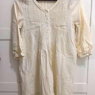 正品 LOWRYS FARM 森林系米白襯衫洋裝