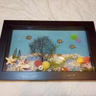 貝殼立體掛畫
