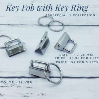 "1"" (25mm) Key Fob Hardware with Ring"