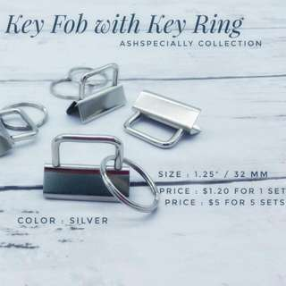 "1.25"" (32mm) Key Fob Hardware with Ring"