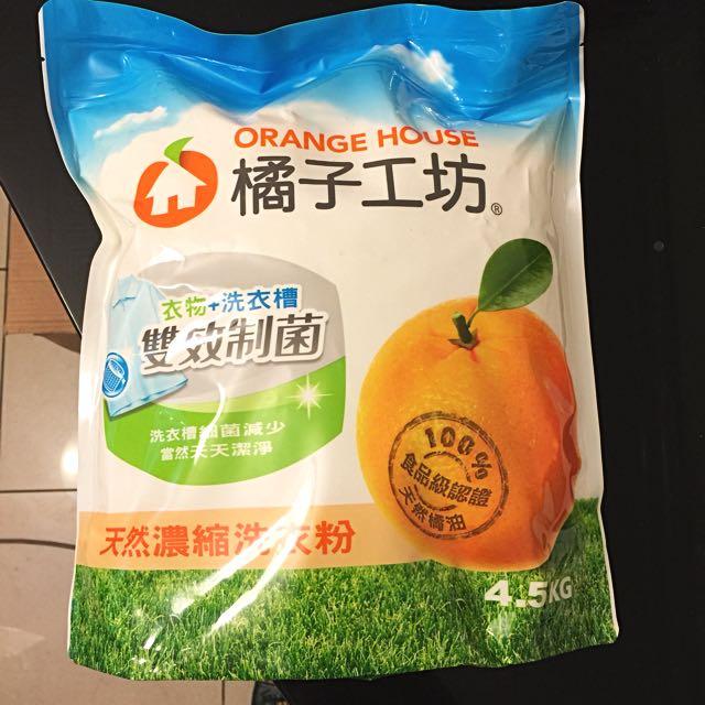 橘子工坊濃縮洗衣粉4.5kg