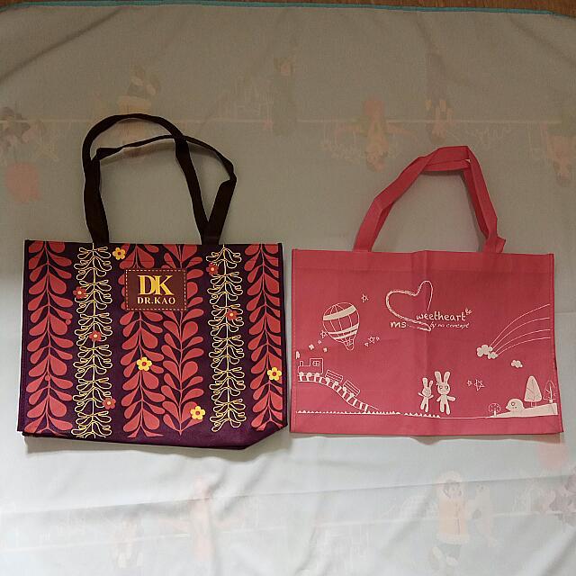 「二手」不織布防塵袋、購物袋