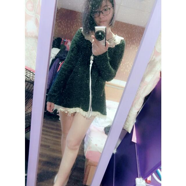 毛毛蕾絲洋裝