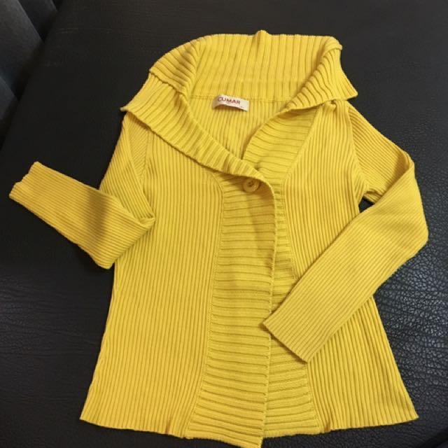 全新芥末黃小外套