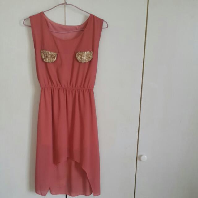 粉色 洋裝