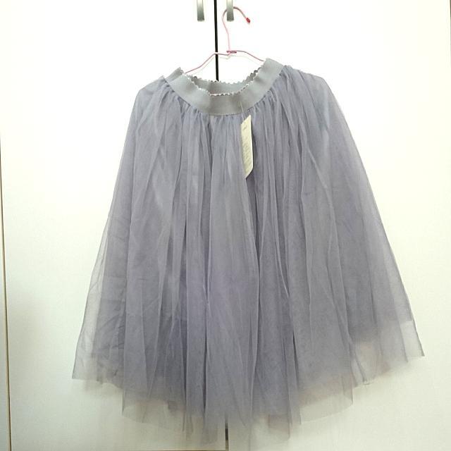 ✨全新 紗裙 三層紗 灰色