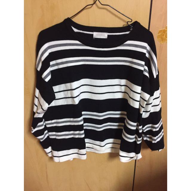 Meierq 條紋毛衣