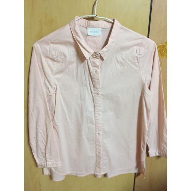 Meier Q 粉色 襯衫