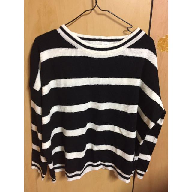 黑白條紋 毛衣  #一百元上衣
