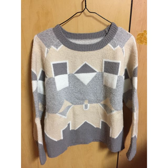 幾何圖形 毛衣 #一百元上衣