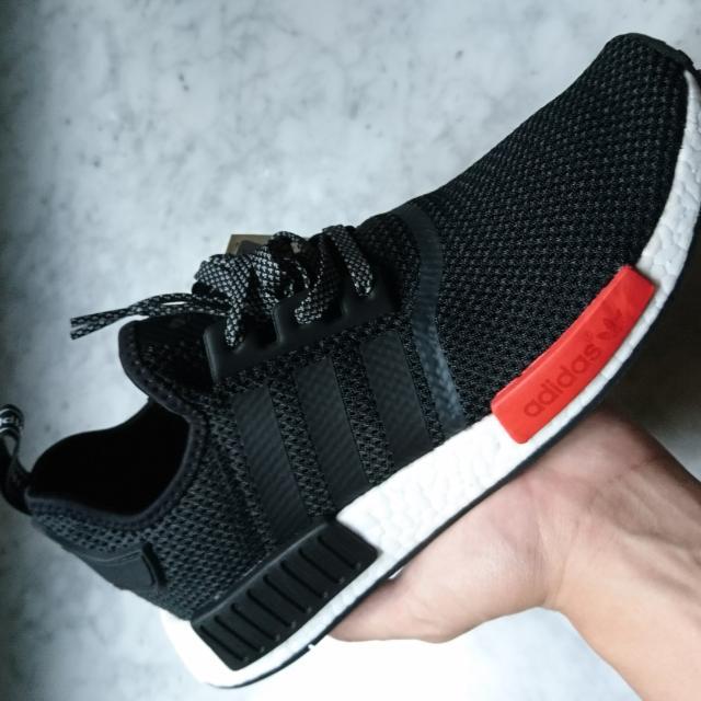 adidas NMD R1 黑 紅 限定版 AQ4498