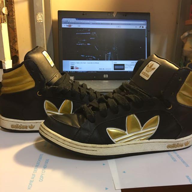 Adidas鞋 Uk6號 JP24.5號 金黑款