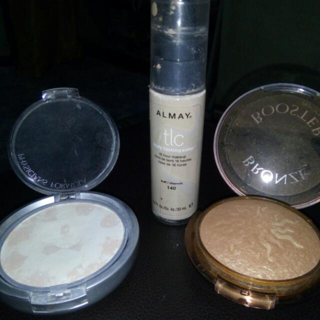Almay Liquid Concealer 90% Left Physicians Formula Mineral Powder 85%  Physicians Formula Bronzer 85% Left  Get All For Only 500 Pesos!   Authentic