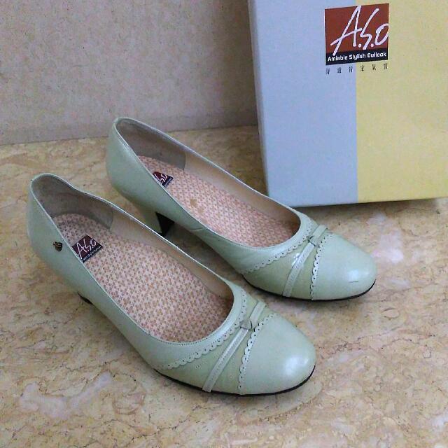降~A.S.O阿瘦~氣質秋香色低跟女鞋#五百元好女鞋