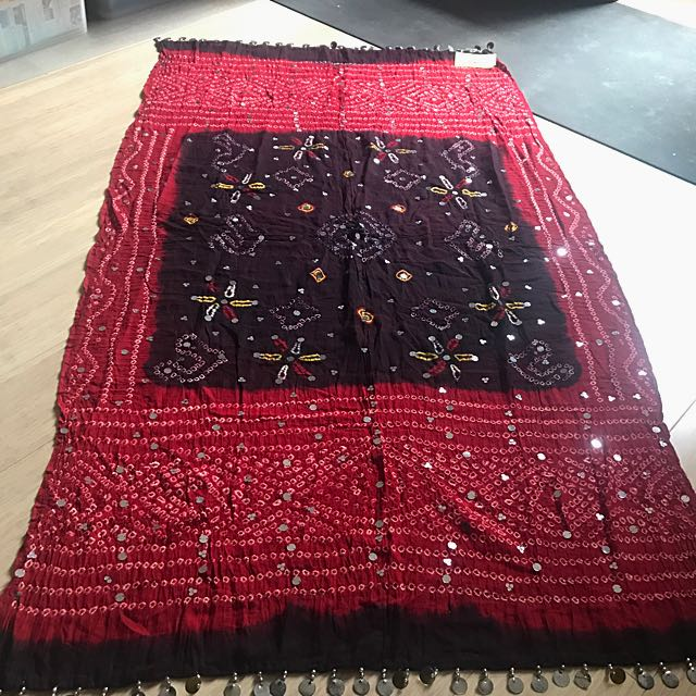 Authentic Indian (made in Rajasthan) throw / shawl / scarf / wrap