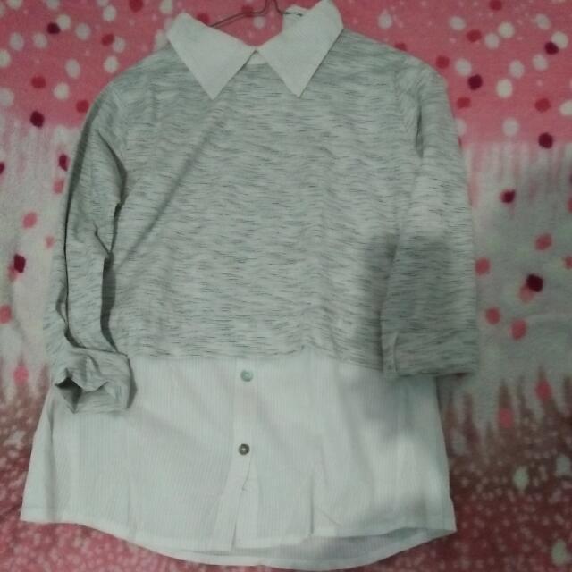 Blosue Grey White