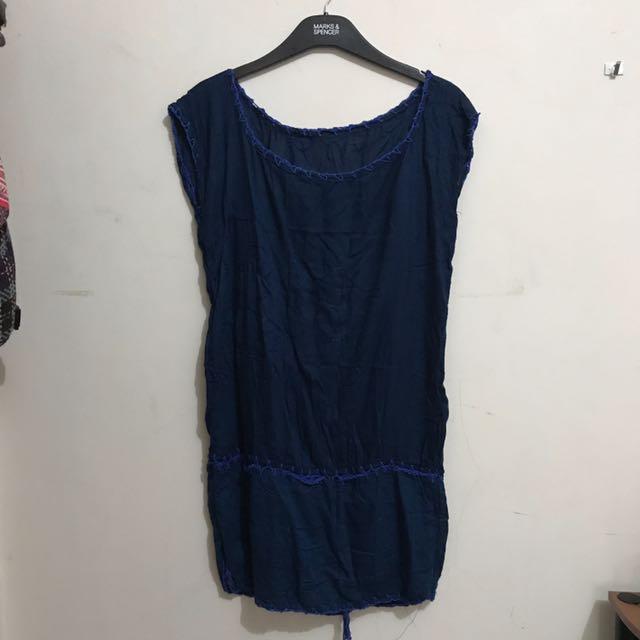 Blue Long Top