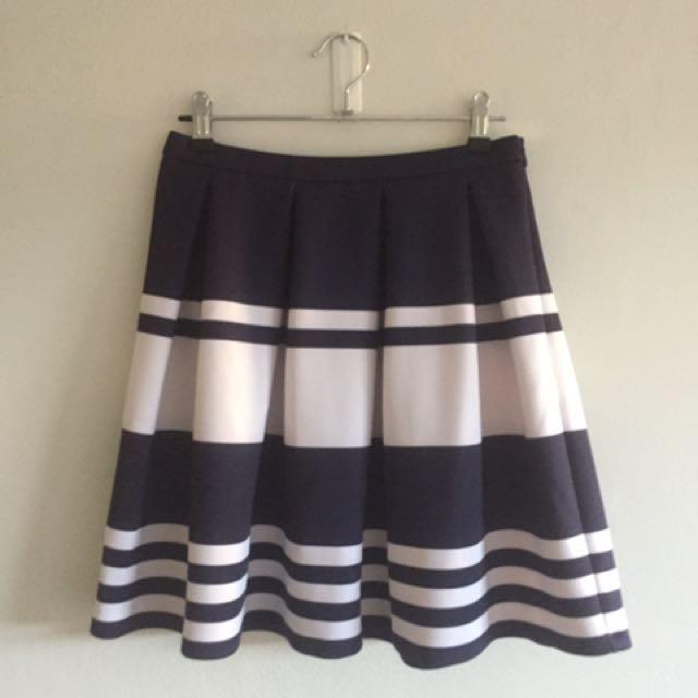 Blue/white stripe Tokito skirt