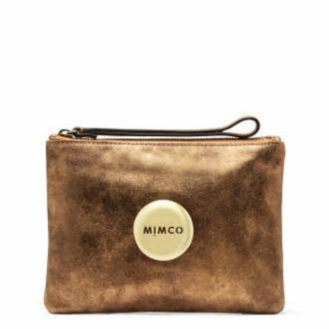 💮Brand New Gold Mimco Pouch