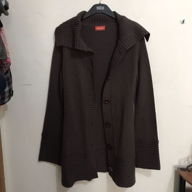 Brown Knitted Outer