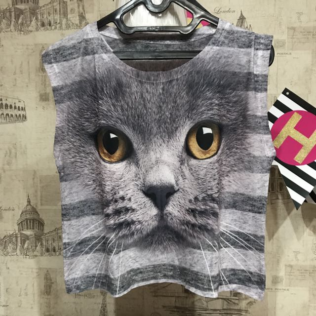 Cat Crop Tanktop