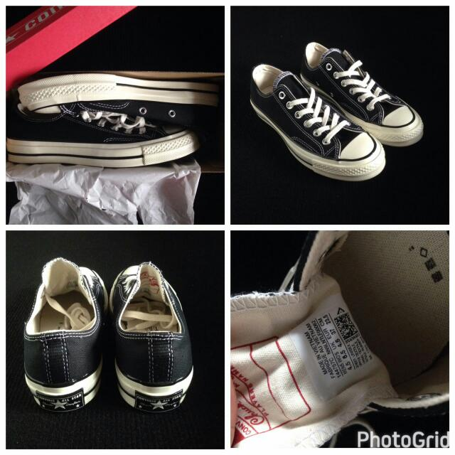 Converse 1970s First String Black White Low