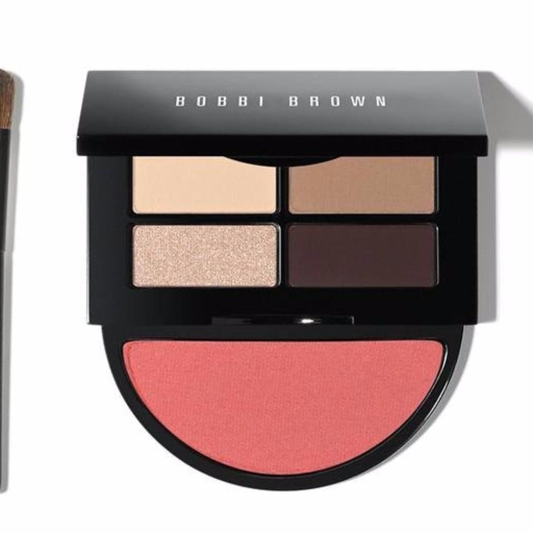 《小牧小舖》Costco 線上代購 Bobbi Brown 眼影腮紅組 4 色眼影 + 1 色腮紅 + 眼影刷 1 支