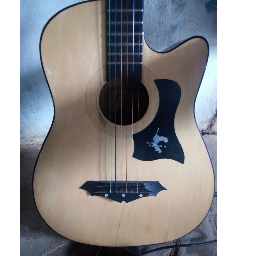 Davis Acoustic Guitar With Pick Up Music Media Music Instruments