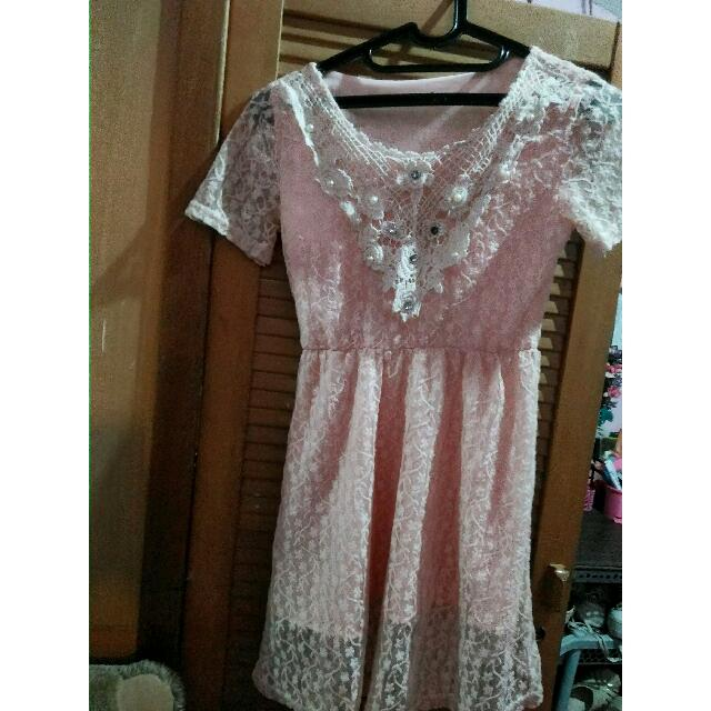 Dress Wanita Peach