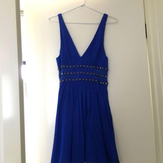 Electric Blue 'Bluejuice' Mini Dress - Size 10